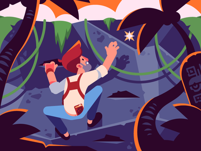 Uncharted | Nathan Drake journey explorer playstation game adventurer character nathan drake naughty dog illustration flat vector uncharted