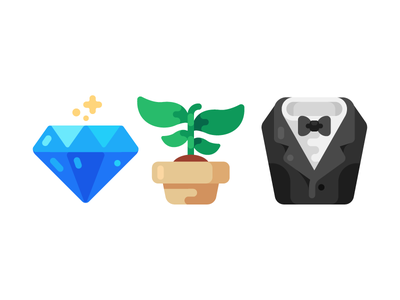 Business Club Icons flower suit diamond vip club business icons icon