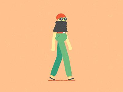 Random Girl wip vector illustrator charcterdesign motiondesignproject illustration