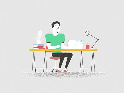Another Desk study motionproject deskdesign characterdesign illustration