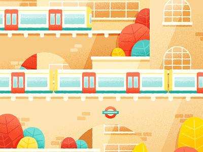 Overground overground vector illustrator illustration