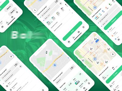 App Consept branding rebranding app design design public transport scooter taxi app app ux ui