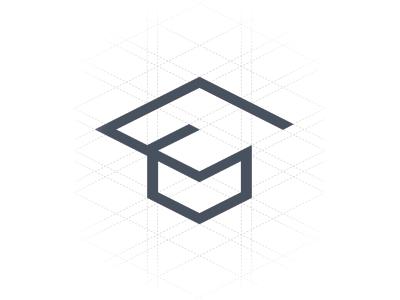 Studytube Logo graduation education platform course training study teach hat logo mark line s