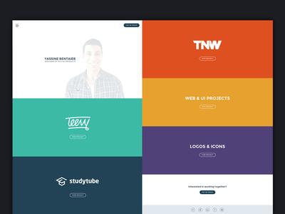 New Portfolio portfolio work teevy studytube thenextweb tnw logos icons web ui personal website