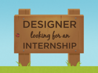 Designer looking for an Internship