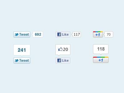 Social Buttons social buttons share twitter like tweet plus tweet button twitter button like button plus one button google plus facebook freebie