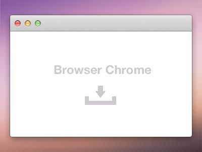Browser Chrome PSD browser chrome preview mac download freebie ui window