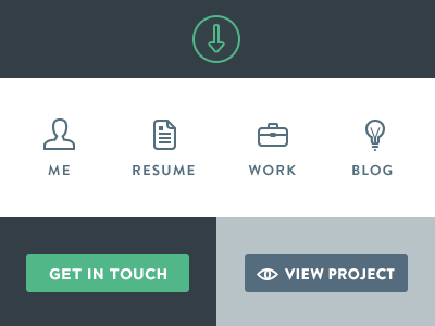 Interface Elements personal me work resume blog website icons icon elements interface portfolio user view project get in touch
