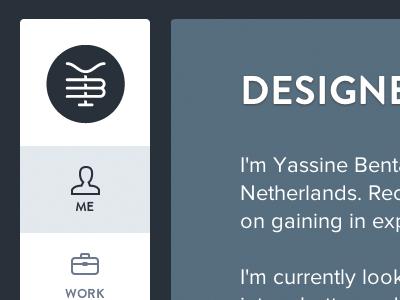 New portfolio site new portfolio site designer for hire logo scroll work icons website yassine