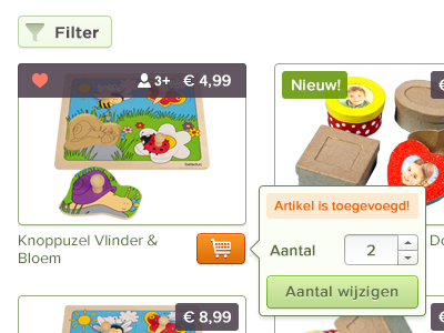 Update cart filter update cart shopping buy products overview toys interface ui article