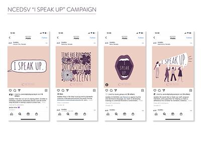 """NCEDSV """"I Speak Up"""" Social Media Campaign procreate procreate art illustration art illustration social media design social media campaign"""