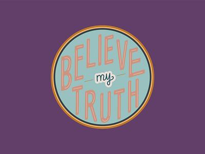 NCEDSV Believe My Truth Campaign Logo modern logo youthful retro design colorful design social media design campaign design awareness campaign marketing agency