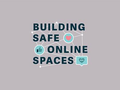 NCEDSV Building Safe Online Spaces Logo bold font graphic design social media design colorful clean design campaign design awareness campaign marketing agency