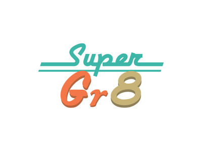 Super Gr8 Branding Identity bold color retrowave retro font colorful branding and identity branding design branding retro