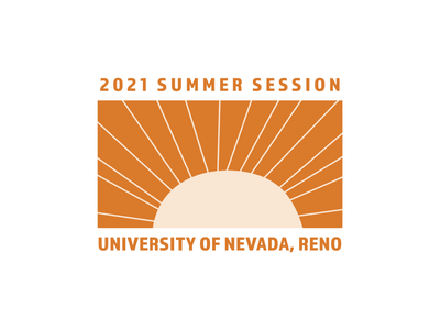University of Nevada, Reno Summer Session 2021 Logo clean design marketing agency orange logo modern logo modern school logo minimalistic school logo school logo university logo