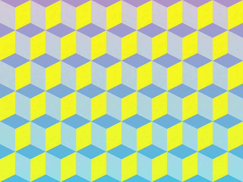 Color Cubes pattern wallpaper background geometric cubes