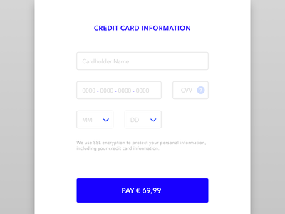 Credit card checkout - 002 payment information checkout creditcard dailyui