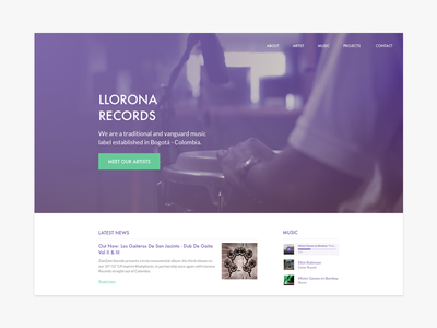 Landing page - 003 music record label landing page dailyui