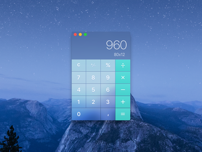 Calculator - 004 ui osx calculator dailyui