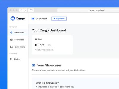Cargo.Build (Dashboard View) nft blockchain ui ux design illustration