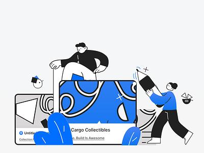 Cargo.Build (Hero Illustration) branding blockchain vector illustration
