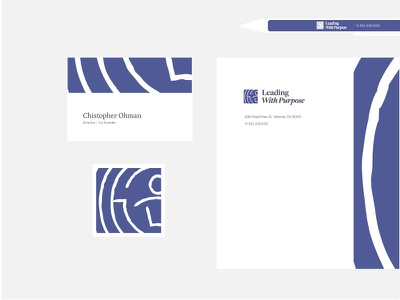 Leading With Purpose Collateral leadership indigo minimal pattern maze collateral branding identity