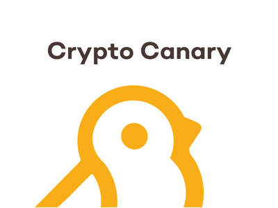 Crypto The Canary review platform blockchaintechnology cryptocurrency concept character blockchain design bird