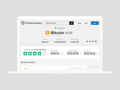 CryptoCanary // Post a review crypto currency reviews blockchain