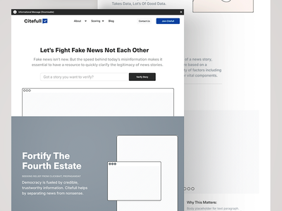 Citefull Wireframes blockchain fake-news fact-checking news wireframes