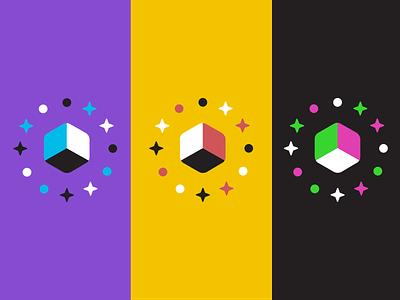 Polyient Games Brand Application -- Colorways blockchain gaming logo branding