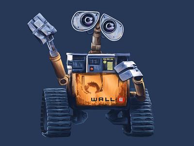 Wall-E disney procreate illustration pixar