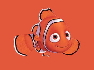 Nemo procreate drawing illustration pixar disney
