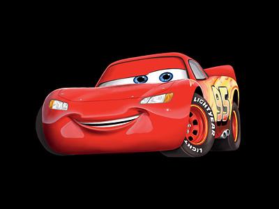 Lightning McQueen disney pixar drawing art illustration