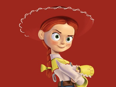 Jessie procreate art illustration drawing disney pixar