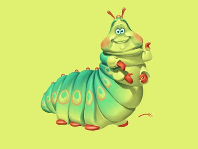 Heimlich - A Bug's Life procreate disney illustration art