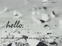PhoenixWave Portfolio Homepage Design
