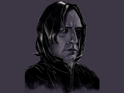 Alan Rickman - Snape procreate adonit jot touch ipad death actor robin hood die hard harry potter snape alan rickman