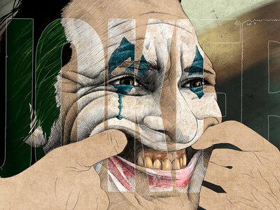 Joker lineart joker trailer joker movie alternative movie poster design illustration crosshatch sketching photoshop procreate poster movie poster joaquin phoenix joker