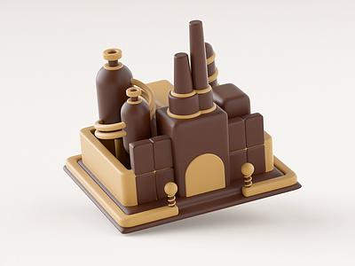 Hover - Chocolate Factory child cartoon cute design branding illustration c4d chocolate bar loop gif animation hover motion factory chocolate
