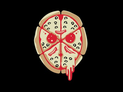 Jason Voorpizza pepperoni cheese pizza gore slasher halloween horror movie movie friday the 13th horror
