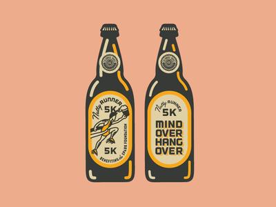 Nutty5k bomber bottle 5k running fayetteville arkansas ale craft beer beer