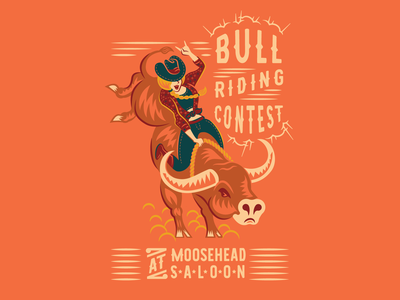 YEEHAW! western cowgirl bull rodeo