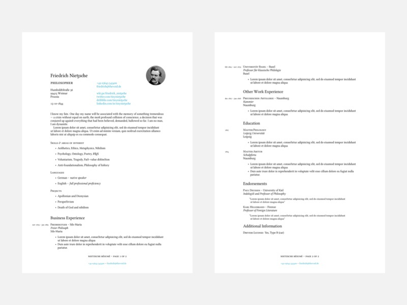 Latex Typeset Cv And Cover Letter Boilerplate With Ci By