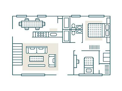 Floor Plan floor plan house vector illustration