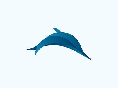 Aquamarine Logo marine ocean blue water animal sea fish aqua dolphin