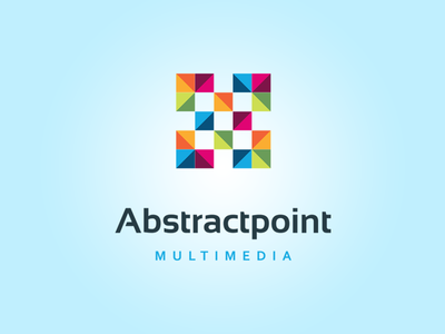 Abstractpoint Multimedia app developer modern digital printing social media multimedia squares point colorfull abstract