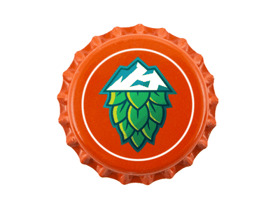 Bottle Cap Mockup mountains hops brewery