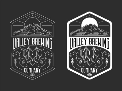 Valley Brewing Co. yakima valley line mountains hops brewery