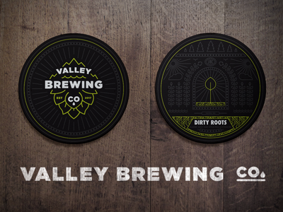Coaster yakima valley brewing hop line brewery beer coasters