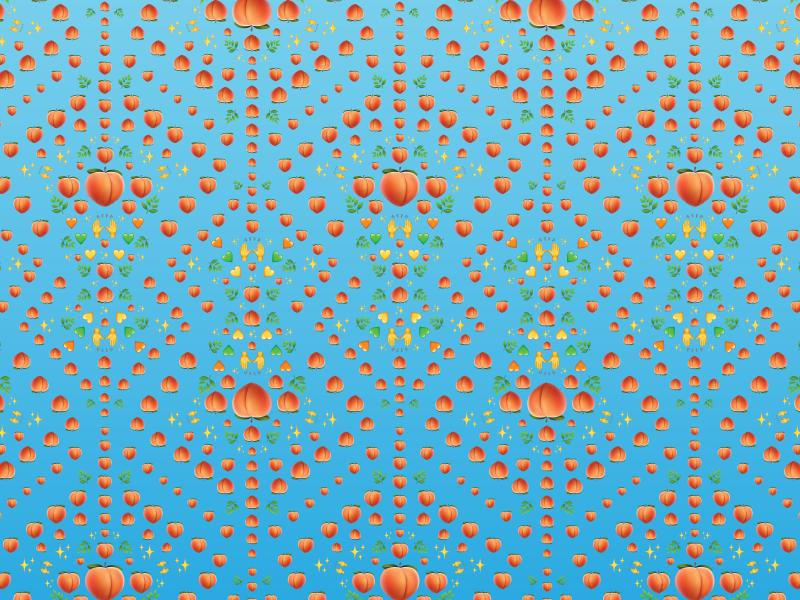 Bottoms Up wallpaper ios pattern peach emoij